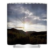 Red Rock Canyon Afternoon Sun Shower Curtain