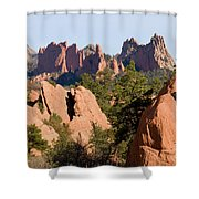 Red Rock Canyon And Garden Of The Gods Shower Curtain