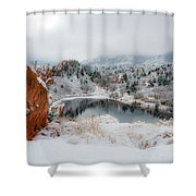 Red Rock Canyon In Winter 2 Shower Curtain