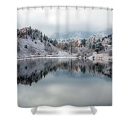 Red Rock Canyon In Winter Shower Curtain