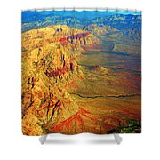 Red Rock Canyon Nevada Vertical Image Shower Curtain