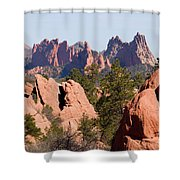 Red Rock Canyon Open Space Park And Garden Of The Gods Shower Curtain