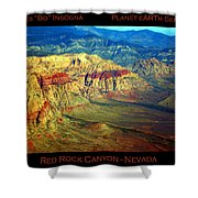 Red Rock Canyon Poster Print Shower Curtain