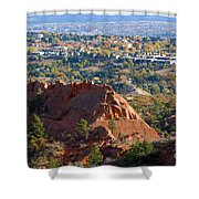 Red Rock Canyon Rock Quarry And Colorado Springs Shower Curtain