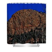 Red Rock Cliff Shower Curtain