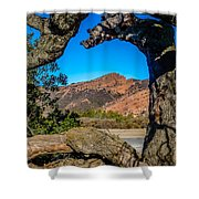 Red Rock Cliffs Shower Curtain