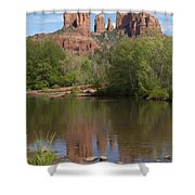 Red Rock Crossing In Sedona Shower Curtain by Sandra Bronstein