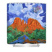 Red Rock Crossing Shower Curtain