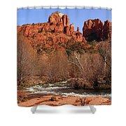Red Rock Crossing Sedona Arizona Shower Curtain