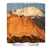Red Rock Shower Curtain by Eric Glaser