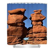 Red Rock Formation  Shower Curtain
