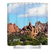 Red Rock Formations Shower Curtain