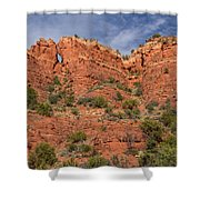 Red Rock Keyhole Shower Curtain