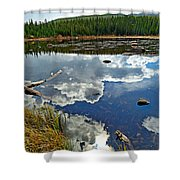 Red Rock Lake Fall Study 2 Shower Curtain