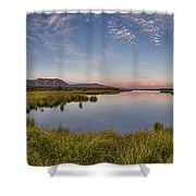 Red Rock Lakes Shower Curtain