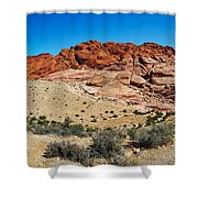 Red Rock Mountain Shower Curtain
