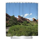 Red Rock Park Shower Curtain