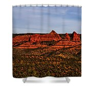 Red Rock Peaks 23 Shower Curtain