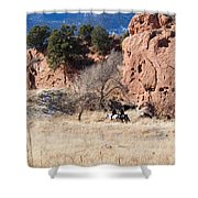 Red Rock Riders Shower Curtain