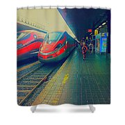 Train To Venice Shower Curtain