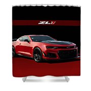 Red Rocket  Shower Curtain