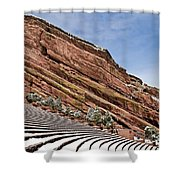 Red Rocks Amphitheater Shower Curtain