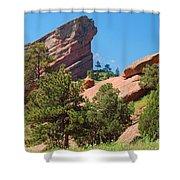 Red Rocks Landscape Shower Curtain
