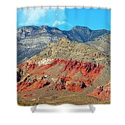 Red Rocks Nevada Shower Curtain