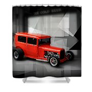 Red Rod Shower Curtain