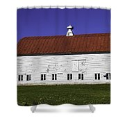 Red Roof Barn Vermont Shower Curtain