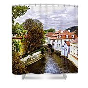 Red Roofs Of Prague - 2015 Shower Curtain