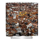 Red Roofs Of Venice Shower Curtain