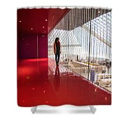 Red Room Views At The Seattle Central Library Shower Curtain