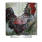 Red Rooster Shower Curtain