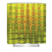 Red Rose Abstract # 0050pcwc Shower Curtain