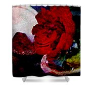 Red Rose And The Mirror Shower Curtain
