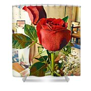 Red Rose Shower Curtain