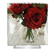Red Roses And Glass Still Life 042216 1a Shower Curtain