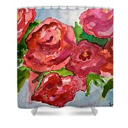 Red Roses, Red Roses Shower Curtain