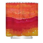 Red Saddle Original Painting Shower Curtain