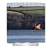 Red Sails In Carrick Roads Shower Curtain