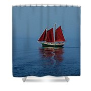 Red Sails On Superior Shower Curtain