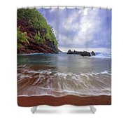 Red Sand Shower Curtain