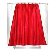 Red Satin Mid-calf Skirt. Ameynra Simple Line 2013 Shower Curtain