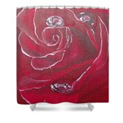 Red Shower Curtain by Saundra Johnson