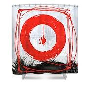 Red Scream Shower Curtain