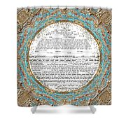Red See Ketubah Shower Curtain