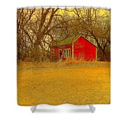 Red Shack Shower Curtain