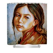 Red Shawl Shower Curtain