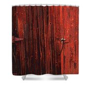 Red Shed Shower Curtain